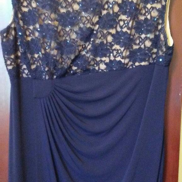 Connected Apparel Dresses Women Plus Size 20 W Navy Blue Dress